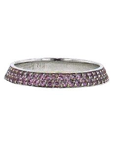 Set of Pink Sapphire Guard Rings from Bez Ambar