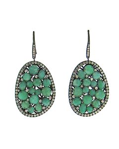 Amazonite Earrings with Diamonds from Di Massima