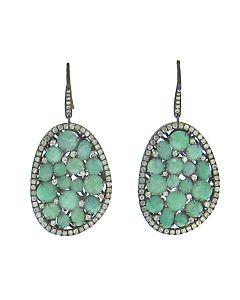 Amazonite Earrings with Diamonds from Di Massima