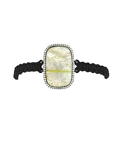 Rutilated Quartz and Mother of Pearl Bracelet
