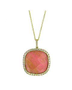 Pink Rhodonite Pendant from Di Massima