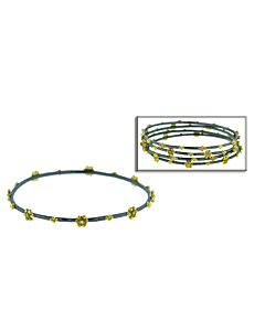 Pretty Two Tone Diamond Stacking Bracelet