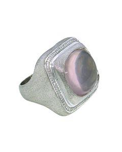 Raymond Hak Rose Chalcedony and Diamond Ring