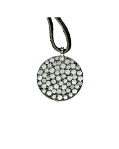 Barry Kronen's Round White Topaz & Diamond Pendant