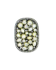 Mother of Pearl and Diamond Ring from Di Massima