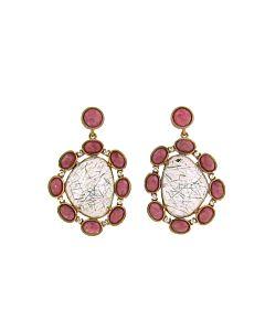 Di Massima's Rhodonite and Rutilated Quartz Earrings