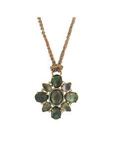 Black Mother of Pearl & Diamond Pendant from Di Massima
