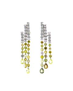DiGo's White and Fancy Color Diamond Earrings