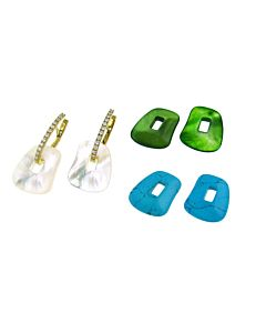 Diamond Interchangeable Earrings