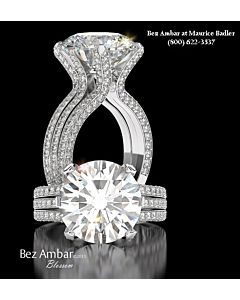 Outstanding Pave Diamond Engagement Ring