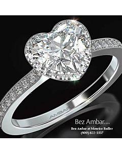 Blaze Diamond Halo Engagement Ring
