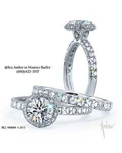 Round and Blaze Diamond Engagement Ring
