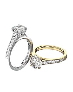 Engagement Ring with Channel Blaze Diamonds