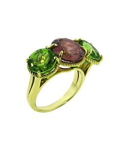 Rose Zircon & Peridot AURA Collection Ring