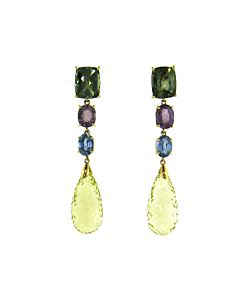 Lemon Quartz Briolette Earrings