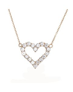 Rose Gold Diamond Heart Pendant