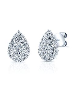 Teardrop Diamond Cluster Earrings