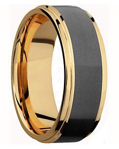 Elysium 18k Gold & Diamond Matrix Men's Wedding Band