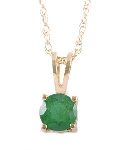 Birthstone pendants:  Emerald for May