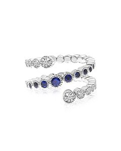 Sapphire and Diamond Spryng Ring