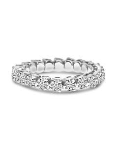Three Prong Expandable Diamond Spryng Eternity Ring