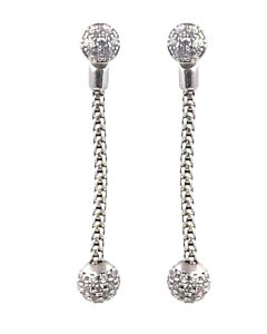 St Silver Convertible Dangling Earrings
