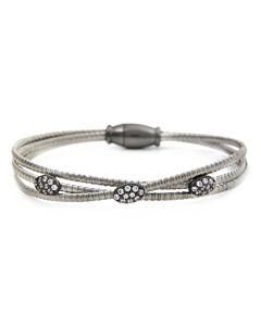Three Row Silver Luca Bracelet
