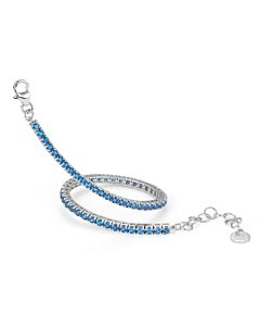 Portofino Collection Blue Topaz Eternity Bracelet