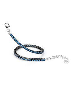 Portofino Collection Blue Topaz Bracelet w/Black Rhodium