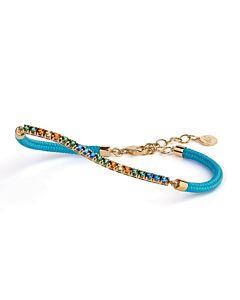 Capri Tropical Topaz Bracelet w/Light Blue Cord