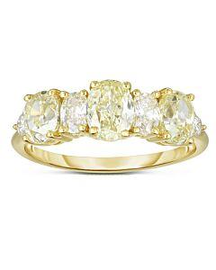 Prong Set Fancy Yellow Diamond Ring