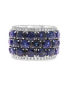 Diamond Edged Sapphire Eternity Ring