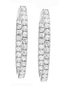 Delightful 2.40 ct. diamond hoop earrings