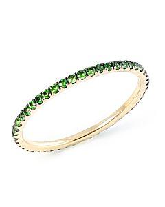 Slender Tsavorite Eternity Ring