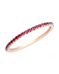 Slender Ruby Eternity Ring