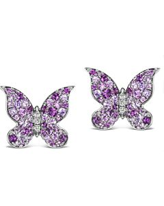 Gemstone Butterfly Earrings