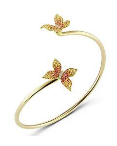 Flexible Gold and Sapphire Arm Bracelet
