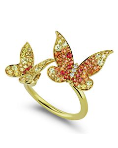 Sapphire Butterfly Cuff Ring