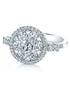 Dazzling Diamond Cluster Ring