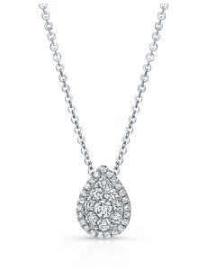 Pear Shaped Diamond Cluster Pendant