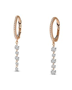 Rose Gold Pierced Diamond Earrings