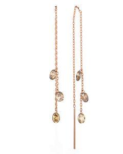 Pierced Cognac Diamond Earrings