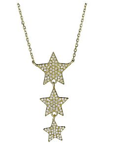 Triple Star Drop Necklace