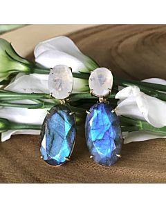 Labradorite and Moonstone Earrings