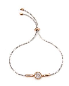 White and Rose Bolo Bracelet