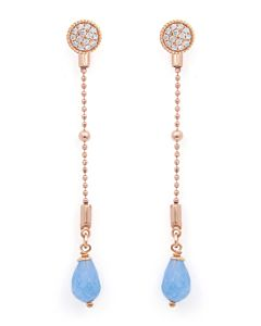 Versatile White Sapphire and Aquamarine Earrings