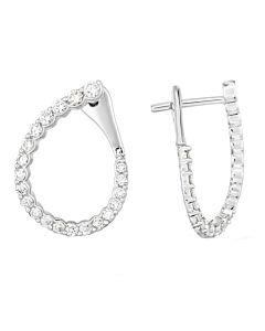 Diamond Wraparound Hoop Earrings