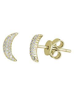 Crescent Moon Earring Studs