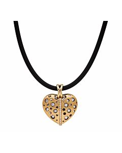 Large Mirror Striped Heart Pendant