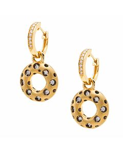 Mirror Diamond Circle Earrings